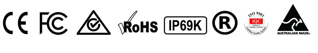 couplertec-certificates CE, RohS2, IP69, ISO 9001, CISPR EMC 25 #28214
